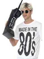 Gonflable rétro Téléphone Mobile Accessoire Années 80
