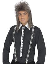 Bretelles et cravate piano clavier Accessoire Années 80