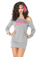 Costume Robe Sweatshirt Flashdance Costume Femme Retro
