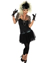 Costume Femme Retro 80 ' s Pop Star Costume (noir)