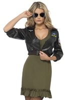 Costume agent de Top Gun Costume Femme Retro