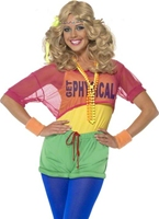 80 s Let's Get physique Girl Costume Costume Femme Retro