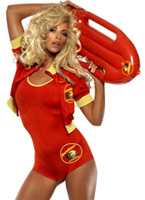 Costume de Baywatch Lifeguard Costume Femme Retro