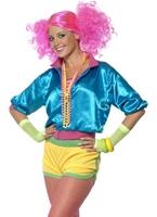 80 ' s néon Skater Girl Costume Costume Femme Retro
