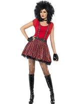 Mesdames Punk Kit instantanée Costume Femme Retro