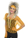 Costume Femme Retro Dentelle Net gilet Orange