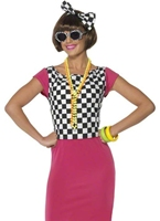 80 ' s, deux tons Ska Girl Costume Costume Femme Retro