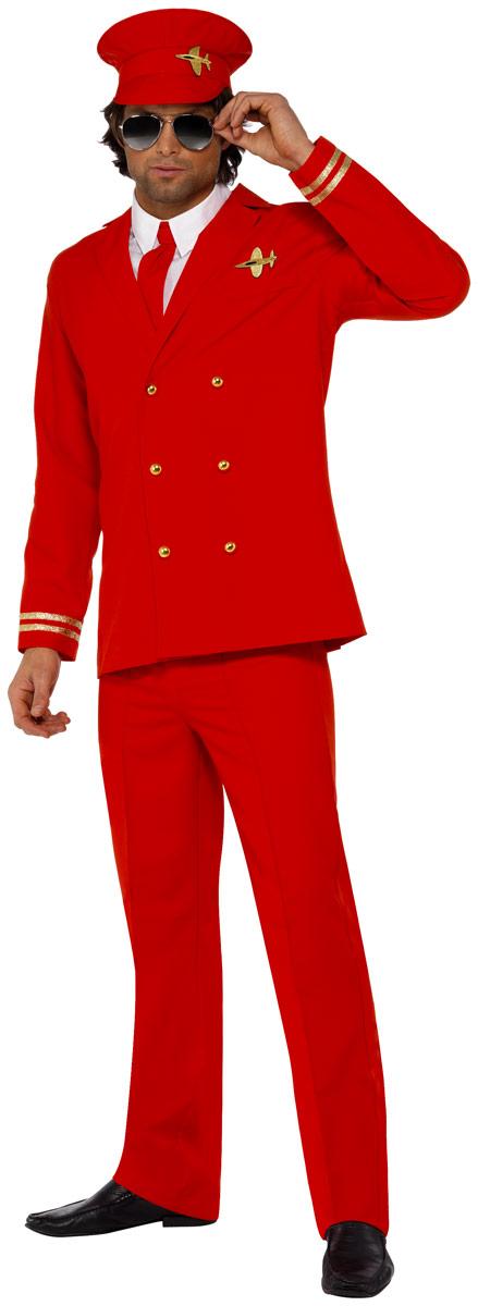 Costume Homme Retro Costume de pilotes High Flyer