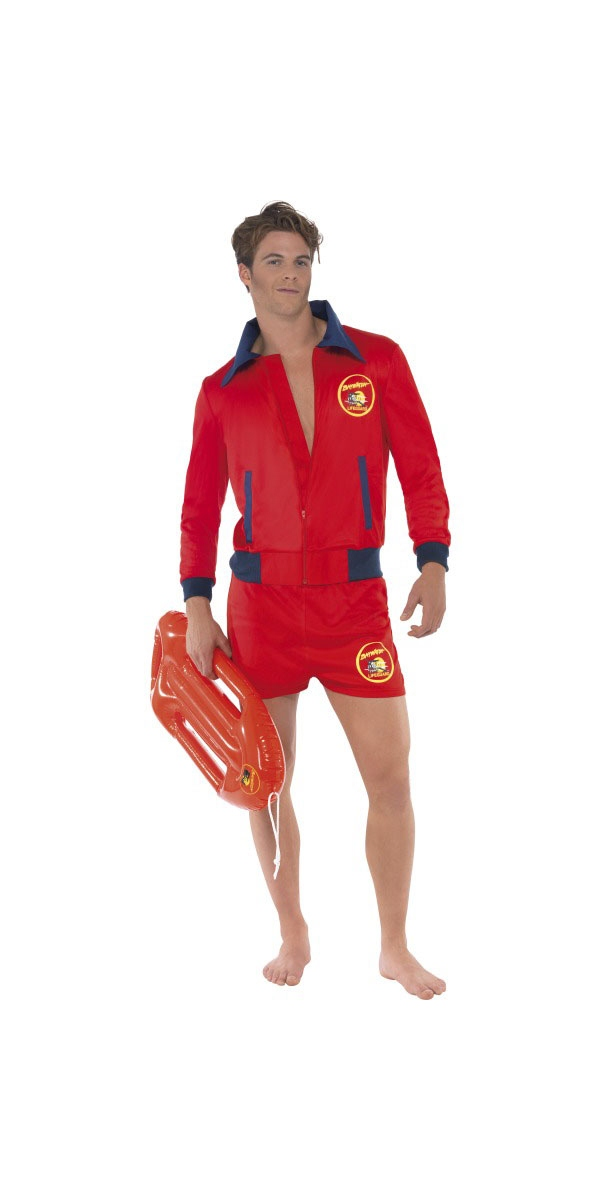 Costume Homme Retro Costume de Baywatch Lifeguard