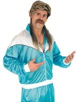 80 ' s Shell costume bleu Costume Homme Retro