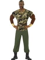 Costume de Camouflage de Monsieur T Premium Costume Homme Retro