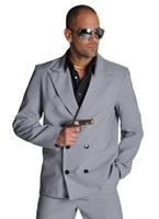 80 ' s Miami Vice costume gris Costume Homme Retro
