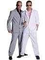 Costume Homme Retro 80 ' s Miami Vice costume gris