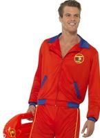 Lifeguard Costume alerte à Malibu Beach masculine Costume Homme Retro