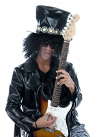 80 ' s Rock Guitar Hero (Slash) Costume Homme Retro