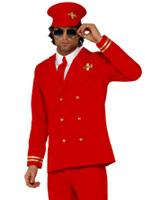 Costume de pilotes High Flyer Costume Homme Retro