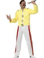 Costume de Freddie Mercury économie Costume Homme Retro
