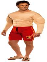 Costume de Baywatch Lifeguard Costume Homme Retro