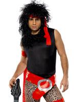 80 ' s Super Rock Star Costume Homme Retro