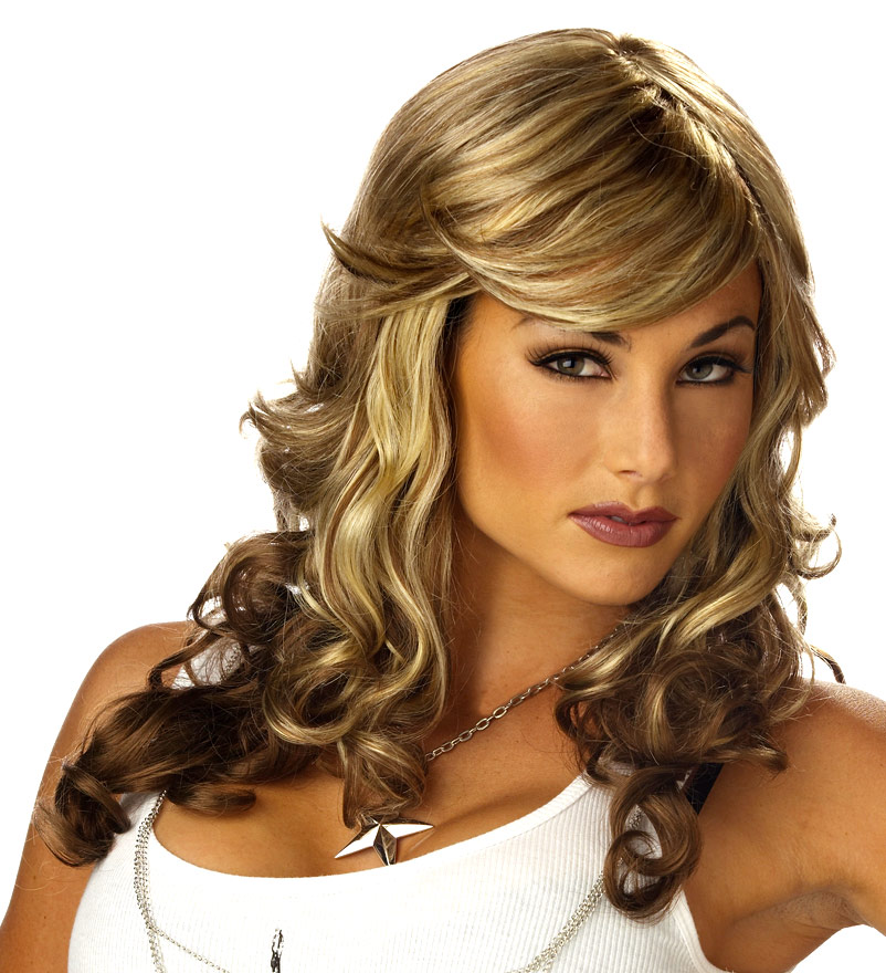 Perruque Retro Roche renarde Blonde et brune perruque