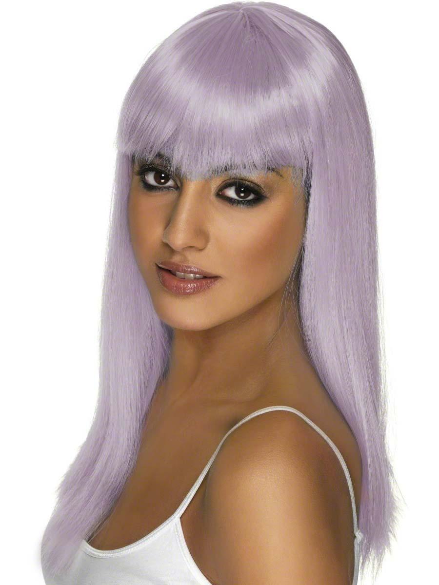 Perruque Retro Lilas longue perruque de Glam