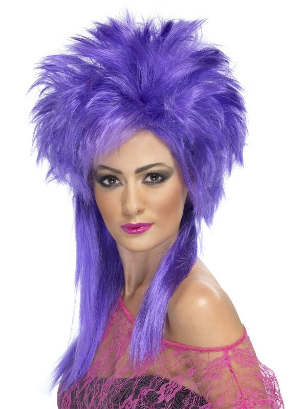 Perruque Retro Perruque Punk Groovy violet