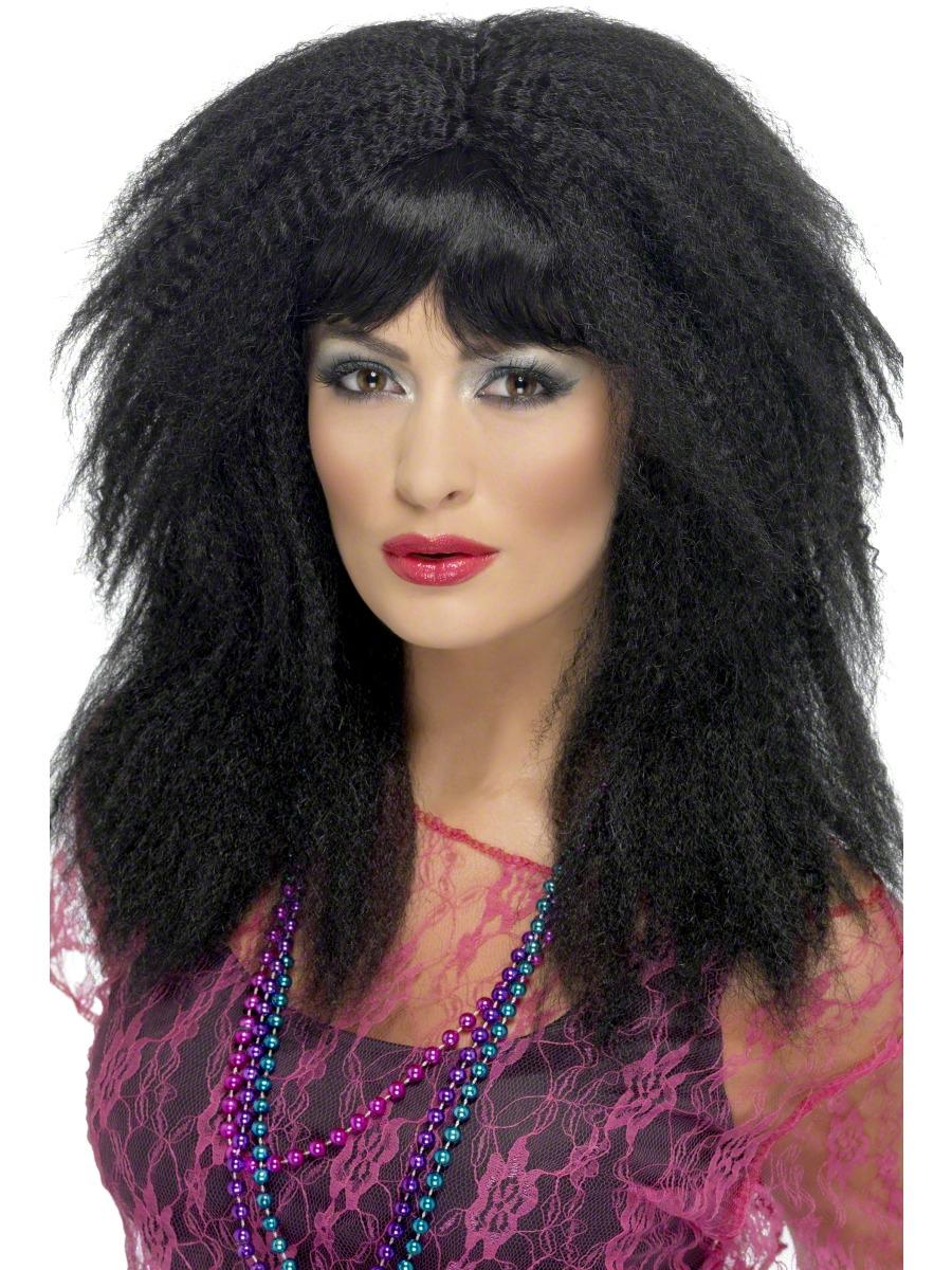 Perruque Retro Perruque de sertissage noir 80 ' s