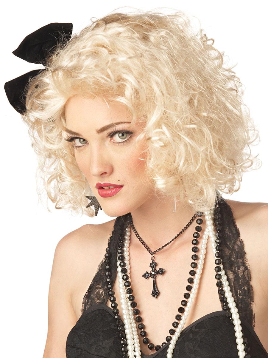 Perruque Retro 80 s pop Star perruque Blonde