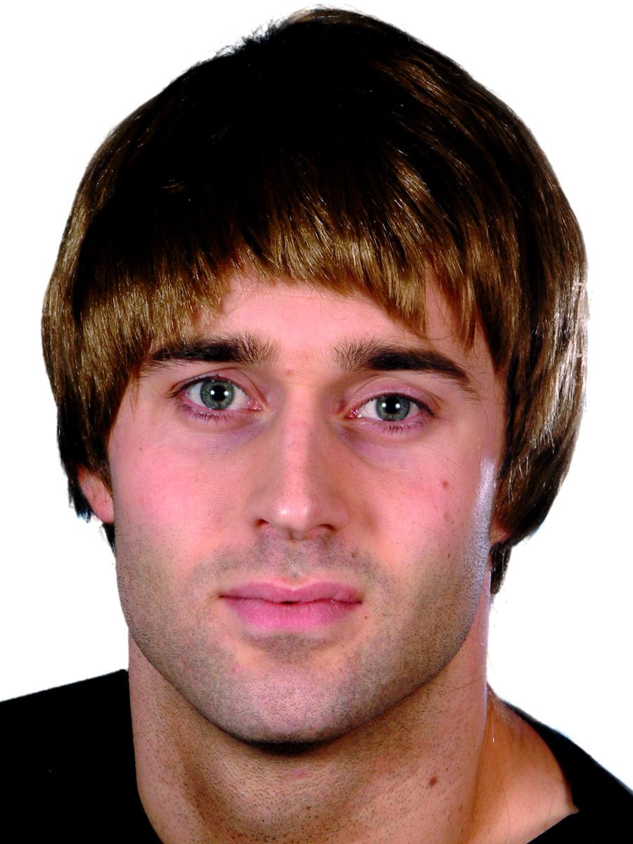 Perruque Retro Guy perruque brune