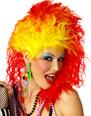 Perruque Retro Superbe perruque vraies couleurs rouge et jaune