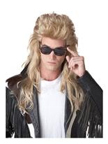 Perruque de mulet pour le Rock des années 80  Perruque Retro