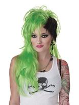 Smash Punk perruque verte Perruque Retro