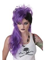 Smash Punk perruque pourpre Perruque Retro