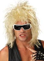 Perruque Blonde mec à bascule Perruque Retro