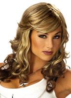 Roche renarde Blonde et brune perruque Perruque Retro