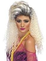 Perruque Blonde de bouteille 80 ' s Perruque Retro