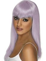 Lilas longue perruque de Glam Perruque Retro