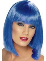 Bleu courte perruque de Glam Perruque Retro