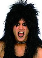 Black perruque Hard Rocker Perruque Retro
