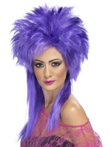 Perruque Punk Groovy violet Perruque Retro