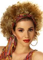 Ghetto Fab perruque de Blonde et brune Perruque Retro