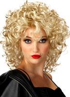 La perruque Blonde de Bad Girl Perruque Retro
