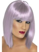 Lilas courte perruque de Glam Perruque Retro