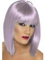 Perruque Retro Lilas courte perruque de Glam