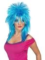 Perruque Retro Perruque néon bleu Raver mulet