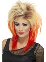 Perruque Mullet Blonde des années 80 Perruque Retro