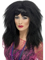 Perruque de sertissage noir 80 ' s Perruque Retro