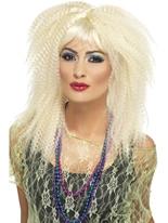 Perruque Blonde Crimp 80 ' s Perruque Retro