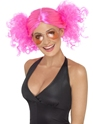 Perruque Retro 1980 ' s Pink perruque de bouquets