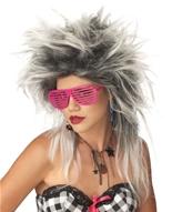 La divine Punk perruque blanc/noir Perruque Retro